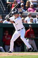 March 5, 2010:  Shortstop Adam Everett of the Detroit Tigers during a Spring Training game at Joker Marchant Stadium in Lakeland, FL.  Photo By Mike Janes/Four Seam Images