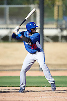 Los Angeles Dodgers minor league infielder Bladimir Franco #72 during an instructional league game against the Chicago White Sox at the Camelback Training Complex on October 9, 2012 in Glendale, Arizona. (Mike Janes/Four Seam Images)