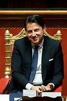 Italian Premier Giuseppe Conte smiling<br /> Rome February 18th 2020. Senate. Speech of the Italian Premier about the next European Council.<br /> Foto Samantha Zucchi Insidefoto
