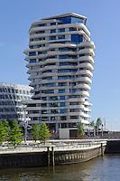 Marco Polo-Terrassen und Marco Polo-Tower  in der Hafencity,  Hamburg, Deutschland
