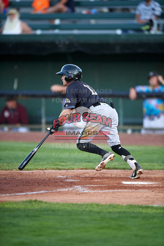 Missoula Osprey Cam Coursey (11) at bat during a Pioneer League game against the Idaho Falls Chukars at Melaleuca Field on August 20, 2019 in Idaho Falls, Idaho. Idaho Falls defeated Missoula 6-3. (Zachary Lucy/Four Seam Images)