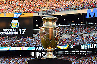 Copa America Centenario trophy on display during final match, Sunday, June 26, 2016 in East Rutherford, New Jersey. (TFV Media via AP) *Mandatory Credit*