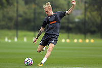 Pictured: Oliver McBurnie Thursday 18 August 2016<br /> Re: Swansea City FC training at Fairwood, Wales, UK