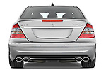 Straight rear view of a 2008 Mercedes E63 Sedan