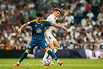 Pablo Hernandez of RC Celta de Vigo battles for the ball with Toni Kroos of Real Madrid during their La Liga match at the Santiago Bernabeu Stadium between Real Madrid and RC Celta de Vigo on 27 August 2016 in Madrid, Spain. Photo by Diego Gonzalez Souto / Power Sport Images
