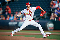 Springfield Cardinals starting pitcher Chris Ellis (23) delivers a pitch during a game against the Corpus Christi Hooks on May 30, 2017 at Hammons Field in Springfield, Missouri.  Springfield defeated Corpus Christi 4-3.  (Mike Janes/Four Seam Images)