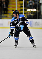 2 December 2011: University of Maine Black Bear forward Brian Flynn, a Senior from Lynnfield, MA, in action against the University of Vermont Catamounts at Gutterson Fieldhouse in Burlington, Vermont. The Catamounts fell to the Black Bears 6-4 in the first game of their 2-game Hockey East weekend series. Mandatory Credit: Ed Wolfstein Photo