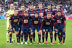 Eibar squad during La Liga match between Real Madrid and Eibar at Santiago Bernabeu Stadium in Madrid, Spain. October 22, 2017. (ALTERPHOTOS/Borja B.Hojas)
