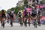 Italian and European Champion Giacomo Nizzolo (ITA) Team Qhubeka Assos wins Stage 13 of the 2021 Giro d'Italia, running 198km from Ravenna to Verona, Italy. 21st May 2021.  <br /> Picture: LaPresse/Gian Mattia D'Alberto | Cyclefile<br /> <br /> All photos usage must carry mandatory copyright credit (© Cyclefile | LaPresse/Gian Mattia D'Alberto)
