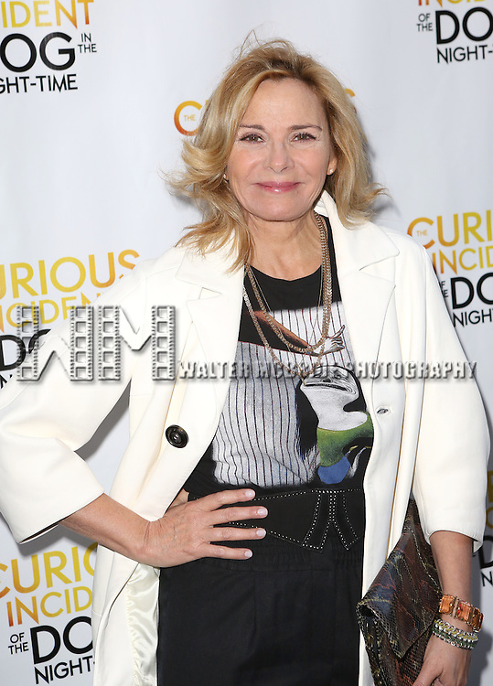Kim Cattrall attends the Broadway Opening Night Performance of 'The Curious Incident of the Dog in the Night-Time'  at the Barrymore Theatre on October 5, 2014 in New York City.
