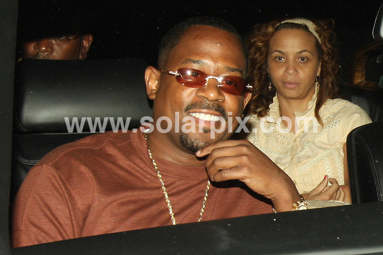 **EXCLUSIVE PICTURES FROM SOLARPIX.COM**.**WORLDWIDE SYNDICATION RIGHTS**.**NO PUBLICATION IN AUSTRALIA, DENMARK, GERMANY, NEW ZEALAND, RUSSIA, UK OR USA**.Martin Lawrence with his wife and friends having a group dinner at Katsuya Restaurant in Hollywood, California, USA. 23rd August 2008..This pic: Martin Lawrence..JOB REF: 7111 LAP/VIP TM       DATE: 23_08_2008.**MUST CREDIT SOLARPIX.COM OR DOUBLE FEE WILL BE CHARGED* *UNDER NO CIRCUMSTANCES IS THIS IMAGE TO BE REPRODUCED FOR ANY ONLINE EDITION WITHOUT PRIOR PERMISSION*