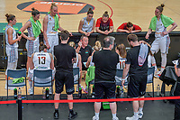 time-out , coaching , team meeting , Philip Mestdagh headcoach of Belgium pictured during a basketball game between the national teams of Belgium , called the Belgian Cats , and Nigeria on Sunday 30 th of May 2021 in Kortrijk , Belgium . PHOTO SPORTPIX.BE | SPP | STIJN AUDOOREN
