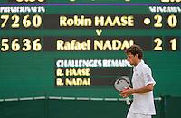 24-06-10, Tennis, England, Wimbledon, Het staat er toch echt, Robin Haase  geeft geweldig partij tegen Rafael Nadal