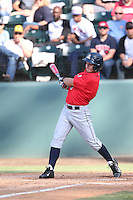 Justin Behnke (4) of the Arizona Wildcats bats during a game against the UCLA Bruins at Jackie Robinson Stadium on May 16, 2015 in Los Angeles, California. UCLA defeated Arizona, 6-0. (Larry Goren/Four Seam Images)