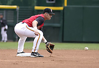 May 16, 2004:  Luis Rodriguez (2) of the Rochester Red Wings, Triple-A International League affiliate of the Minnesota Twins, during a game at Frontier Field in Rochester, NY.  Photo by:  Mike Janes/Four Seam Images