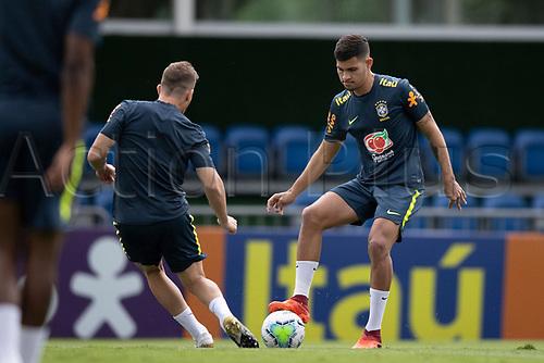 10th November 2020; Granja Comary, Teresopolis, Rio de Janeiro, Brazil; Qatar 2022 qualifiers; Bruno Guimaraes of Brazil during training session in Granja Comary