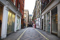 UK Government is drawing up plans to enforce closure of restaurants, bars and cinemas in the capital and restrict use of public transport. The expected 'London Lockdown' has already seen large empty spaces where tourists usually gather and deserted streets around landmarks due to the threat of a further spread of coronavirus. Thursday March 19th 2020<br /> <br /> Photo by Keith Mayhew