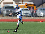 Pahranagat Valley's Jacob Roemer kicks off to Whittell during the first half of the NIAA DIV championship game at Dayton High School in Dayton, Nev., on Saturday, Nov. 21, 2015. Pahranagat Valley won 54-28. (Cathleen Allison/Las Vegas Review Journal)