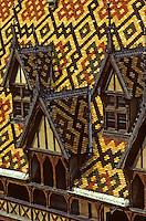 Europe/France/Bourgogne/21/Côte d'Or/Beaune: Les hospices - Détail des toits de l'Hotel Dieu des Hospices de Beaune