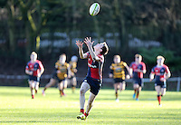 Saturday 4th February 2017 | RBAI vs BALLYCLARE HIGH SCHOOL<br /> <br /> Aaron Coleman during the Ulster Schools' Cup clash between RBAI and Ballyclare High School at  Cranmore Park, Belfast, Northern Ireland.<br /> <br /> Photograph by www.dicksondigital.com