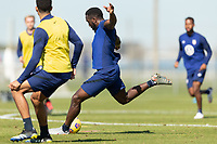 BRADENTON, FL - JANUARY 19: Jozy Altidore shoots the ball during a training session at IMG Academy on January 19, 2021 in Bradenton, Florida.