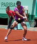 Christina McHale (USA) loses  at Roland Garros in Paris, France on June 2, 2012