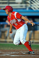 Batavia Muckdogs shortstop Alex Mejia #3 during a game against the Connecticut Tigers at Dwyer Stadium on July 6, 2012 in Batavia, New York.  Batavia defeated Connecticut 3-2.  (Mike Janes/Four Seam Images)