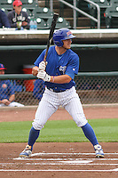 Iowa Cubs outfielder John Andreoli (6) at bat during a Pacific Coast League game against the Colorado Springs Sky Sox on May 10th, 2015 at Principal Park in Des Moines, Iowa.  Iowa defeated Colorado Springs 14-2.  (Brad Krause/Four Seam Images)