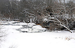 Greenville Falls off Rangeline Road in Miami County is beautiful, even on winter days withs the temperature hovering around zero.
