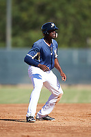 Milwaukee Brewers left fielder Demi Orimoloye (21) during an Instructional League game against the Cincinnati Reds on October 14, 2016 at the Maryvale Baseball Park Training Complex in Maryvale, Arizona.  (Mike Janes/Four Seam Images)