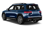 Car pictures of rear three quarter view of 2021 Mercedes Benz GLB AMG-35 5 Door SUV Angular Rear