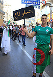 Algerian protesters march in an anti-government demonstration in the capital Algiers on SEPT. 27, 2019. Photo by Taher Boussoualim