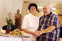 Marie and Caryl Fagot get ready for their annual St. Joseph's Day Altar that they prepare for for weeks, March 8, 2005.