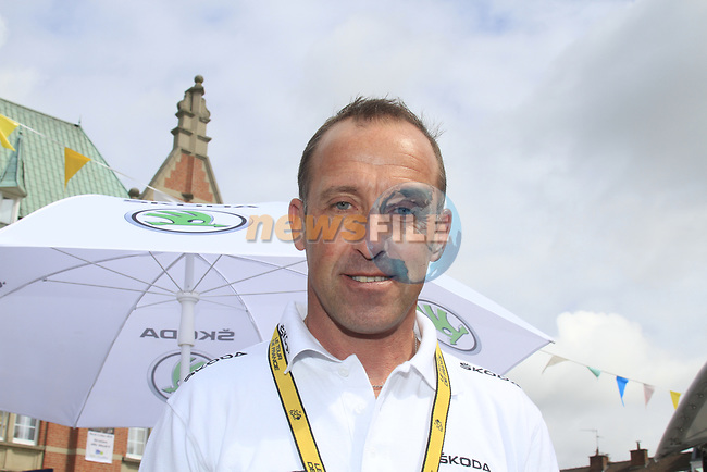 Former pro rider Luc Leblanc (FRA) in the Tour Village before the start of Stage 3 of the 99th edition of the Tour de France 2012, running 197km from Orchies to Boulogne-sur-Mere, France. 3rd July 2012.<br /> (Photo by Eoin Clarke/NEWSFILE)