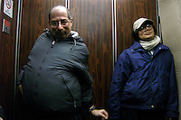 Richard Concepcion, aka Rapid T. Rabbit, at right, rides an elevator after a live broadcast of the Rapid T. Rabbit and Friends cable access television show.   Furries are a group of people who identify themselves not as being human but as a walking, talking animal.  For some the lifestyle is complete, animal traits reach into every aspect of life from mundane trips to a grocery store to sexual fantasies.  For others, involvement in the furry fandom is limited to public performances and meet-and-greets.