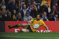 Adam Ashley-Cooper of Australia scores an emphatic try during the Semi Final of the Rugby World Cup 2015 between Argentina and Australia - 25/10/2015 - Twickenham Stadium, London<br /> Mandatory Credit: Rob Munro/Stewart Communications