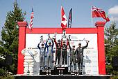 #52 LA Honda World Racing Honda Civic TCR, TCR: Colin Mullan, Max Faulkner.#17 JDC-Miller Motorsports Audi RS3 LMS TCR DSG, TCR: Mikey Taylor, Britt Casey Jr, #61 Roadshagger Racing by eEuroparts.com Audi RS3 LMS TCR DSG, TCR: Gavin Ernstone, Jon Morley, podium
