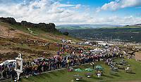 Picture by Allan McKenzie/SWpix.com - 02/05/2015 - Cycling - Tour de Yorkshire - Wakefield to Leeds, Cow & Calf, Ilkley, England - The peloton makes it's way up the Cote de Cow & Calf.