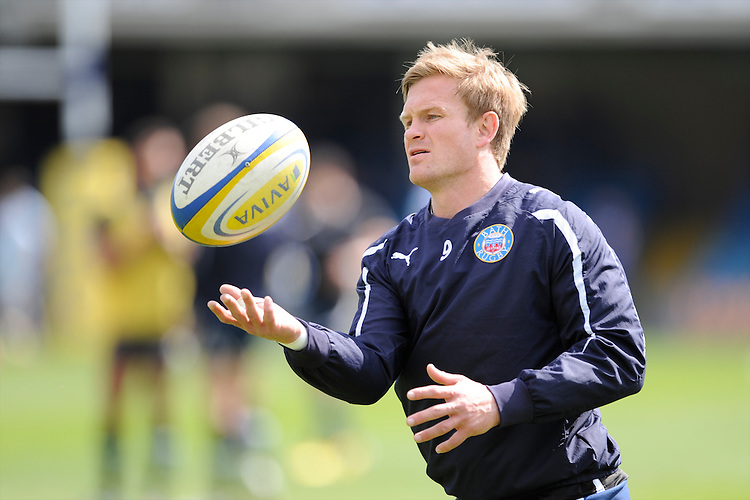 Michael Classens of Bath Rugby warms up before the Aviva Premiership match between Bath Rugby and Leicester Tigers at The Recreation Ground on Saturday 20th April 2013 (Photo by Rob Munro)