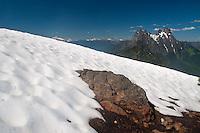Desolation Peak Snowfield and Hozomeen, North Cascades National Park, Washington, US