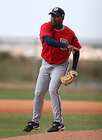 Washington Nationals minor leaguer Franklin Nunez during Spring Training at the Carl Barger Training Complex on March 19, 2007 in Melbourne, Florida.  (Mike Janes/Four Seam Images)