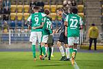 12.09.2020, Ernst-Abbe-Sportfeld, Jena, GER, DFB-Pokal, 1. Runde, FC Carl Zeiss Jena vs SV Werder Bremen<br /> <br /> <br /> Jubel Joshua Sargent (Werder Bremen #19) mit Davie Selke  (SV Werder Bremen #09) Tahith Chong (Werder Bremen #22)<br /> <br />  <br /> <br /> <br /> Foto © nordphoto / Kokenge