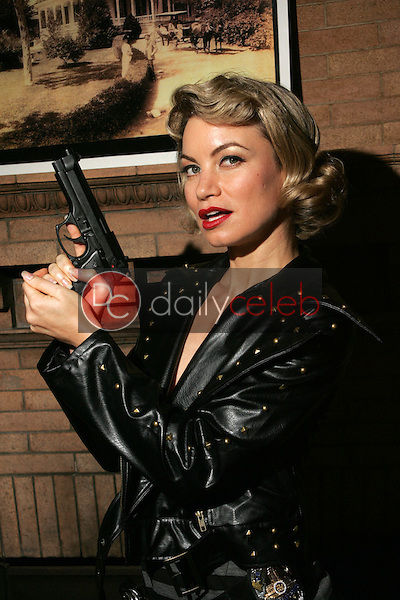 """Rena Riffel<br />on the set of the upcoming feature film """"Dark Reel"""" slated for June 2007 release. Private Location, Altadena, CA. 11-15-06<br />Dave Edwards/DailyCeleb.com 818-249-4998<br />Exclusive"""
