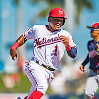 2 March 2019: Washington Nationals infielder Wilmer Difo in action during a Spring Training game against the Minnesota Twins at the Ballpark of the Palm Beaches in West Palm Beach, Florida. The Nationals defeated the Twins 10-6 in Grapefruit League play. Mandatory Credit: Ed Wolfstein Photo *** RAW (NEF) Image File Available ***
