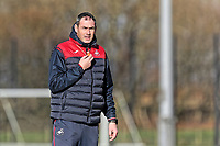 Swansea manager Paul Clement prepares to blow his whistle during the Swansea City Training at The Fairwood Training Ground, Swansea, Wales, UK. Tuesday 05 December 2017