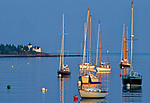 View of Rockport Harbor, Rockport, Maine, USA