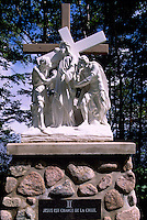 Caraquet, NB, New Brunswick, Canada - the Second Station of the Cross at Sainte-Anne-du-Bocage, a Catholic Sanctuary