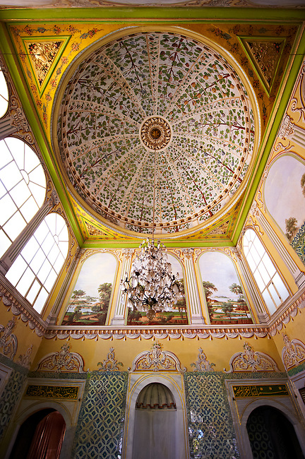 The apartments of the Queen Mother in the Harem of the Topkapi Palace, Istanbul, Turkey