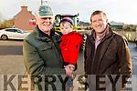 Brendan Barton, Adam Nagle and Donal Ashe at the James Ashe Memorial Tractor Run in Boolteens on Sunday.