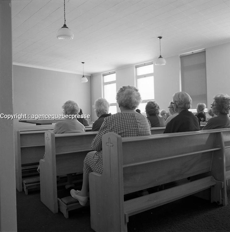 Residence de personnne agees dans les annees 1970 (date inconnue)<br /> <br /> PHOTO :  Agence Quebec Presse
